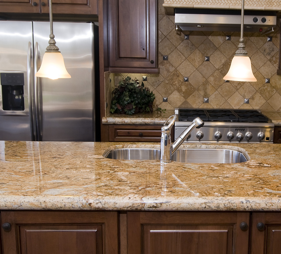 Kitchen counter tops gw surfaces Granite kitchen countertops pictures