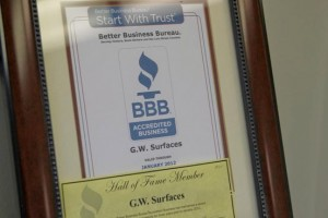 BBB Better Business Bureau Hall of Fame Plaques