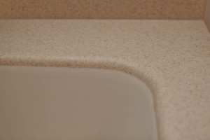 Corian® Solid Surface Countertop and Seamless Sink Combination