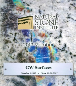 GW Surfaces Natural Stone Institute Member